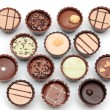 Mixed Chocolates on white — Stock Photo #7879598
