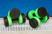 Water Aerobics Dumbbells — Stock Photo