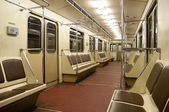 Inside of train in Moscow metro — Stock Photo