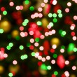 Stock Photo: Red-green christmas lights