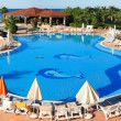 Foto Stock: Swimming pool in hotel territory