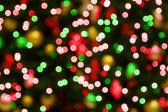 Red-green christmas lights — Stock Photo