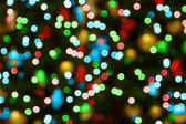 Blue-red-green christmas lights — Stock Photo
