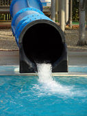 Water tube in aqua park — Stock Photo