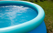 Outdoor pool with a water — Foto de Stock