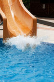 Brown waterslide — Stockfoto