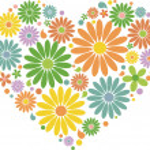 Vintage floral heart — Stock Vector