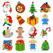 Christmas icons — Stock Photo #7784157