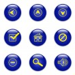 Blue web icons — Stock Photo
