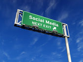 Social Media - Freeway Sign — Стоковое фото