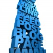 Internet Web Words Stacked Up — Stock Photo