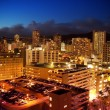 City View of Waikiki, Oahu, Hawaii at Night - Stock Photo