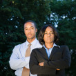 Power Team Two African American Business — Stock Photo
