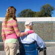 Grandfather Granddaughter Wheelchair WWII Memorial — Stock Photo #7893503