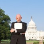 Man Suit Power Broker Secret Folder Washington USA — Stock Photo #7893801