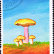 São Tomé Postage Stamp Wood Blewit, Clitocybe Nuda, Rhodopaxil - Stock Photo