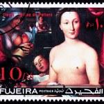 Постер, плакат: Fujeira UAE Stamp Painting Clouet Diane de Poitiers Nude