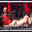 Fujeria UAE Stamp Painting Auguste Ingress Odalisque with Slave - Stock Photo