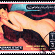 Canceled AjmPostage Stamp Painting Amadeo Modigliani Reclinin — Stock Photo #7894420