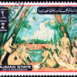 Stock Photo: Canceled AjmPostage Stamp Painting Paul Cezanne Large Bathers
