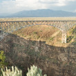 Rio Grande River Gorge Bridge New Mexico Terminator Salvation - Stock Photo