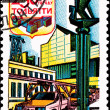 Canceled Soviet Russia Postage Stamp Auto Factory Tolyatti - Stock Photo