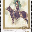 Russia Postage Stamp Painting Nikolai Sverchkov, Riding Horse - Stock Photo