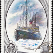 Stock Photo: Soviet RussiPostage Stamp Icebreaker Ship Arctic OceIce