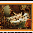 Stock Photo: Soviet RussiPostage Stamp Rembrandt Painting, Danaë, WomBe