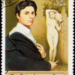 Postage Stamp Painting Self Portrait Jean Ingres — Stock Photo