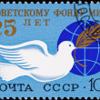 Russia Postage Stamp Dove Olive Branch Globe, Bird — Stock Photo