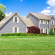 Maryland Single Family Home Colonial Georgian Lawn — Stock Photo