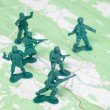 Stock Photo: Plastic Army Men Fighting Battle Topographic Map