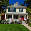 Stock Photo: Single Family House Prairie Style Home Autumn Fall