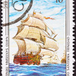 Canceled CubPostage Stamp SantísimTrinidad Ship of Line — Stock Photo #7894813