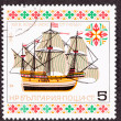 "Postage Stamp ""Christ of Lubek"" First Slave Ship — Stock Photo"