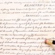 Stock Photo: Editing Erasing First Amendment US Constitution