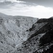 Stock Photo: Black White Rio Grande River Gorge New Mexico