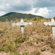 Stock Photo: Old Crosses Desert Outside Taos New Mexico USA