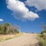 Dirt Road Hill Outside Santa Fe New Mexico Sky — Stock Photo #7894972