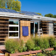 Modern Solar Home Louvered Photovoltaic Panels — Stock Photo