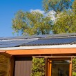 Roof House Home Solar Panel Hot Water Heating Tube — Stock Photo