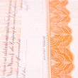 Detail of USA Stock Certificate Ornate Border - Photo