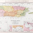 Antique Vintage Color Map of Puerto Rico — Stock Photo #7895188
