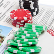Bet the House Poker Chips Foreclosed Mortgage — ストック写真