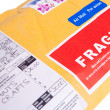 Royalty-Free Stock Photo: Fragile Canadian Airmail Mailer Package Customs