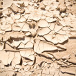 Full Frame Vignette Cracked Dried Mud Abiquiu, New Mexico - Stock Photo