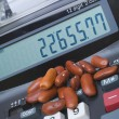 Adding Machine Kidney Beans, Accounting Counting — Stock Photo