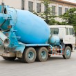 Blue Chinese Cement Truck, Beijing, China — Stock Photo