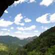 View From a Guard House on Great Wall of China - Stock Photo